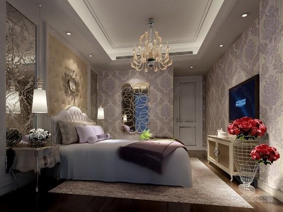 欧式浪漫女生卧室3d模型下载