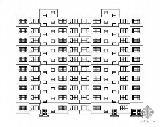 [佳木斯]某一梯两户十层住宅建筑施工图