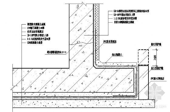 地下室外防外涂防水构造图2