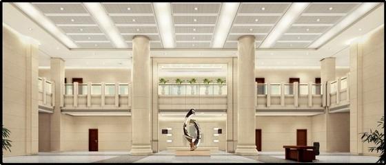 [葫芦岛]现代国家供电系统生产调度综合楼设计概念方案图大厅效果图