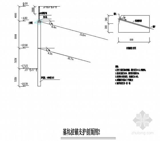 基坑桩锚支护剖面图2