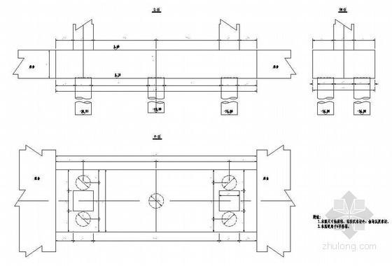 悬索-斜拉协作体系主塔一般构造节点详图设计