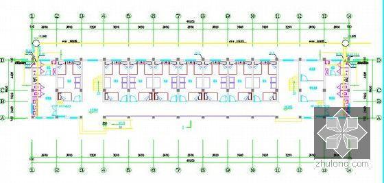 [安徽]学生公寓及食堂建筑安装工程预算书(含施工图纸)-给排水一层平面图
