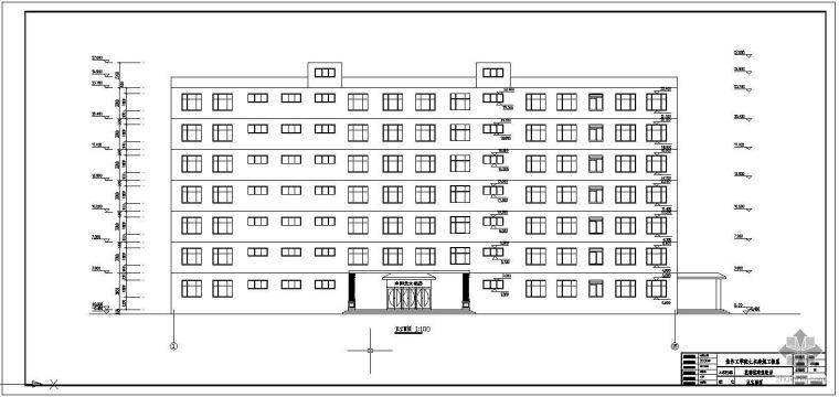 [学士]某局部8层框架旅馆毕业设计(含计算书、建筑结构设计图)