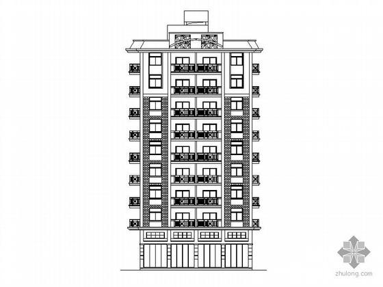 [南安]某九层独栋商住楼建筑方案图(含效果图)