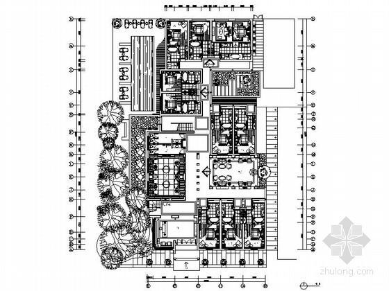 [云南]质朴唯美古镇本土文化酒店客栈装修设计CAD施工图(含实景)