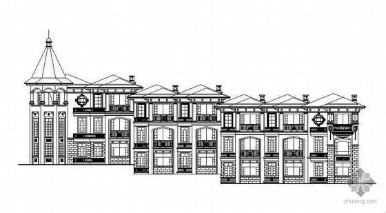 某三层欧式别墅建筑设计方案(二期工程)