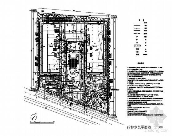 某工厂小区给排水管道总平面图