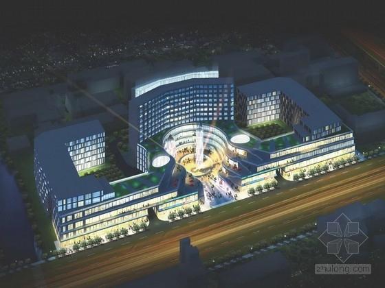 [上海]12层多层玻璃幕墙商业综合体建筑设计方案文本