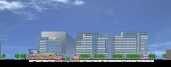 [上海]商业区规划及单体设计方案文本-剖面图