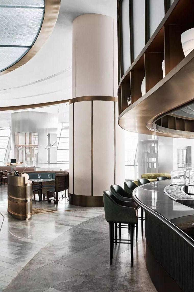 迪拜地标旁的2000平米超大餐厅,精致细节成就奢华设计_16