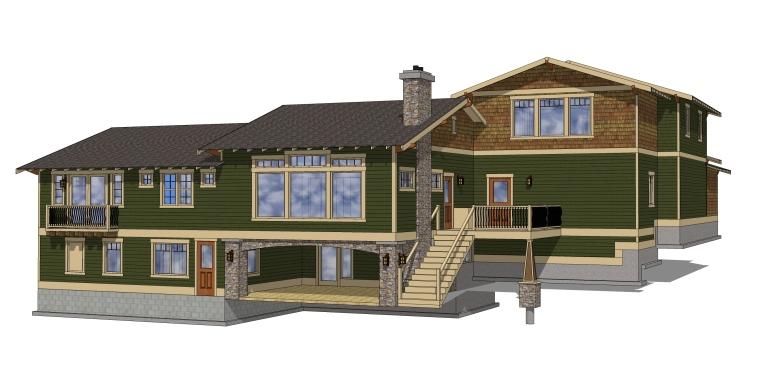 美式风情别墅设计—建筑SU模型