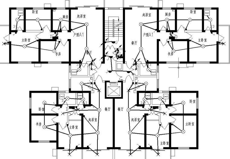 某12层点式住宅电气图