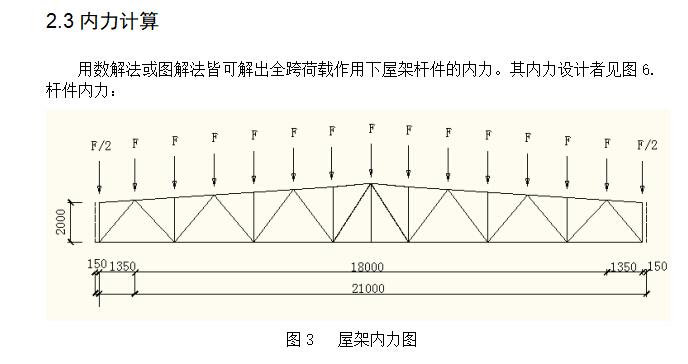 21m跨度钢结构厂房钢课程设计(含图纸)_2