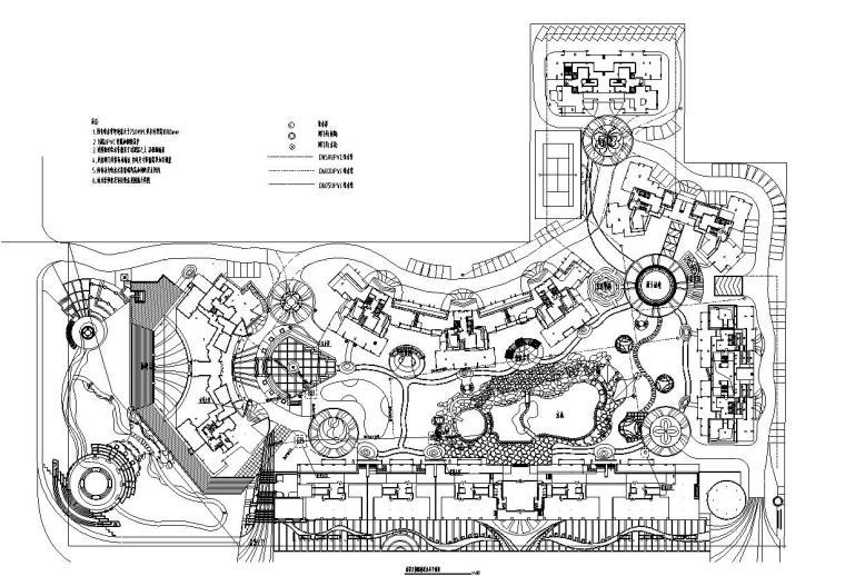 [四川]香格里拉花园环境景观工程施工图设计(给排水设计)