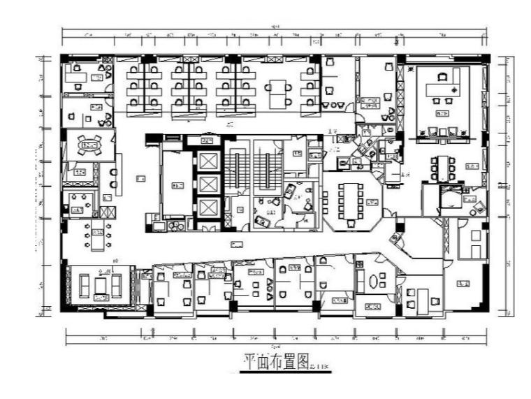 [福州]现代简约地产公司办公室设计施工图(含效果图)
