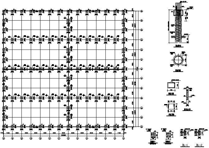 99X103m门式刚架钢结构施工图(CAD,整套)