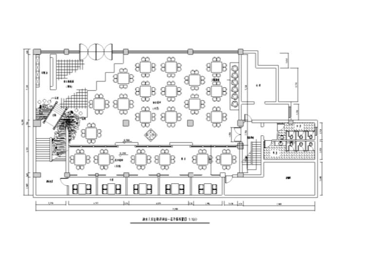 某餐厅连锁店室内CAD装修设计图