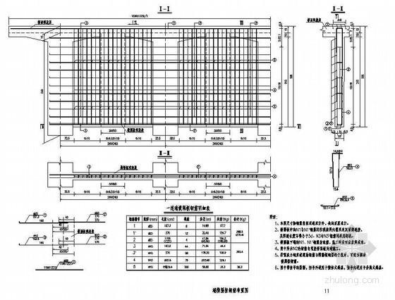 40米预应力简支T梁(新规范)端横隔板钢筋布置图节点详图设计