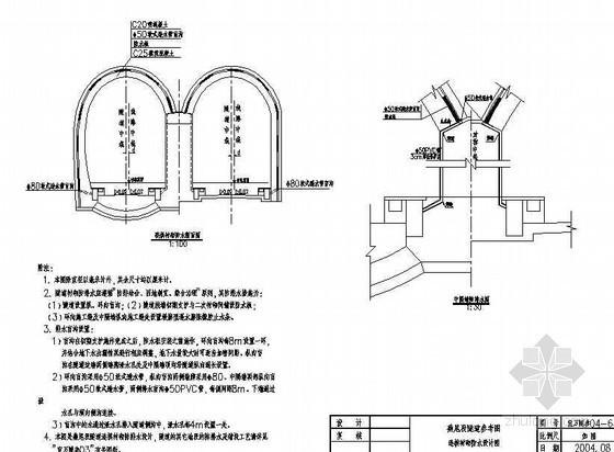 异型隧道(燕尾式衬砌)连拱衬砌防水节点详图设计