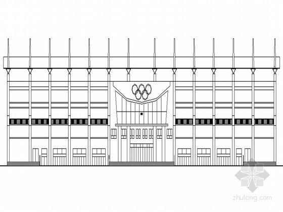 某县级体育场主席台建筑扩初图