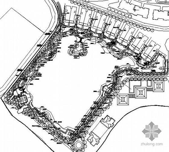 南京临湖小区园林景观工程全套施工图