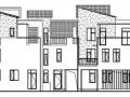 [崇明岛]某田园风光式小区住宅建筑结构施工图(五联排)