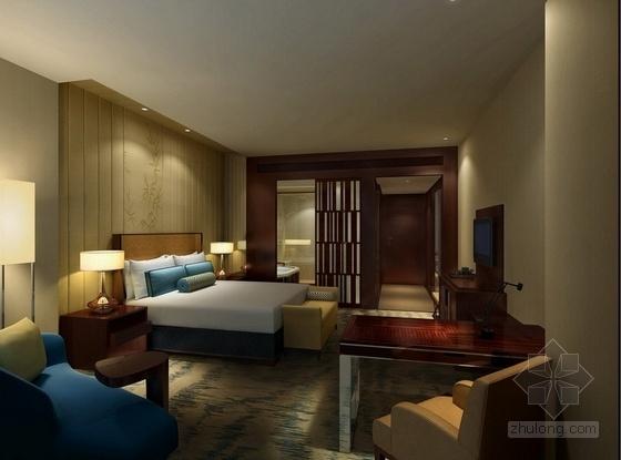 [湖南]别具一格奢华高档五星级商务酒店设计方案总统套房效果图
