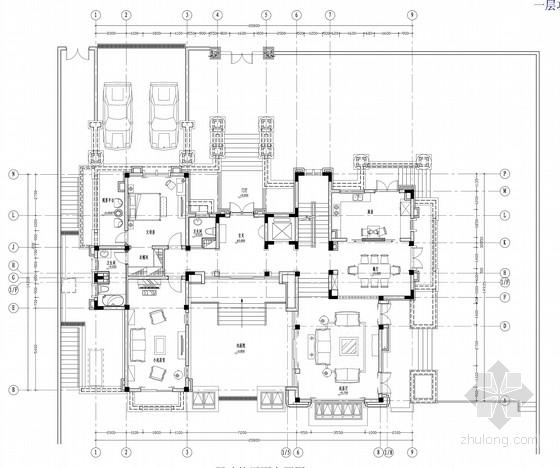 [苏州]美式新古典主义风格独栋别墅室内装饰设计方案(含透视图及手绘草图)