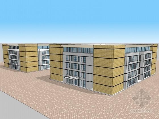 银行办公建筑SketchUp模型下载-银行办公建筑