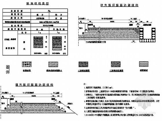[浙江]省道路面结构设计方案图