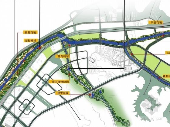 [辽宁]游憩休闲滨水北国江南生态水城景观规划设计方案