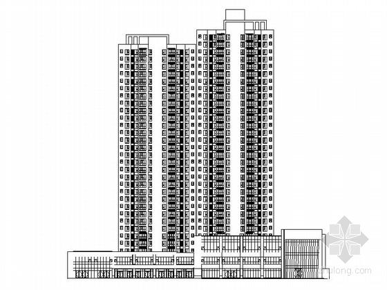 [西安]现代高层住宅带底商建筑施工图