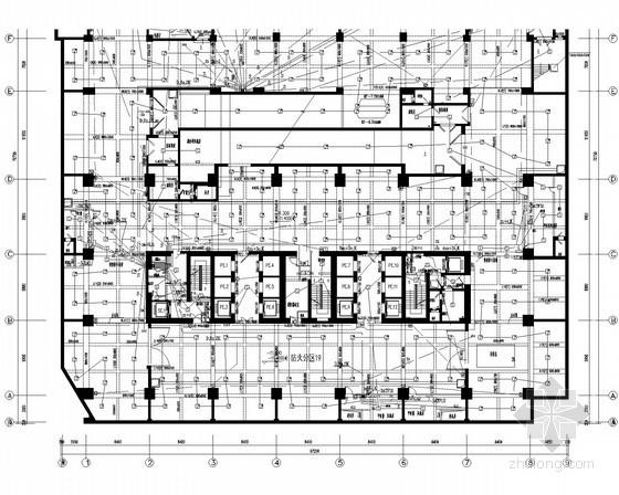 [广东]超高层甲级写字楼电气施工图纸130张(知名设计院)