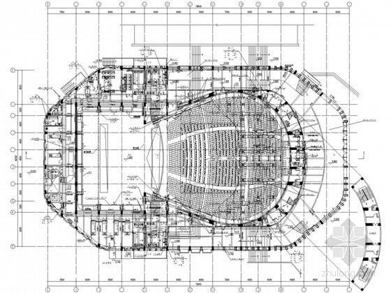 [长沙]大学学术中心及展览馆空调通风施工图纸(座椅送风)