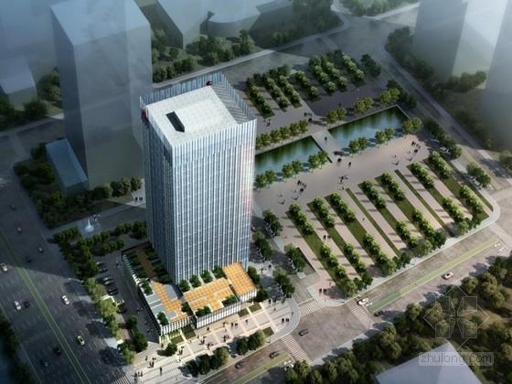[江苏]现代风格23层企业办公楼建筑设计方案文本