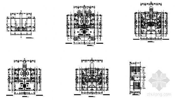 某塔楼一梯两户户型图