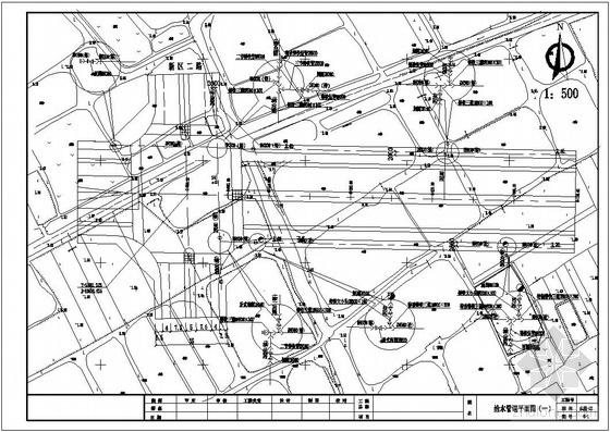 某市政给水管线平面图