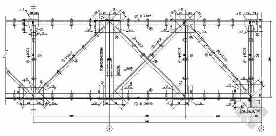 某转炉厂浇筑跨延长托梁拔柱施工图纸