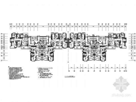 [广东]两栋一类高层商住楼强弱电系统全套施工图纸70张