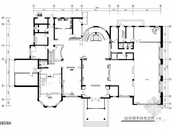 [内蒙古]多层别墅建筑空调通风系统设计施工图