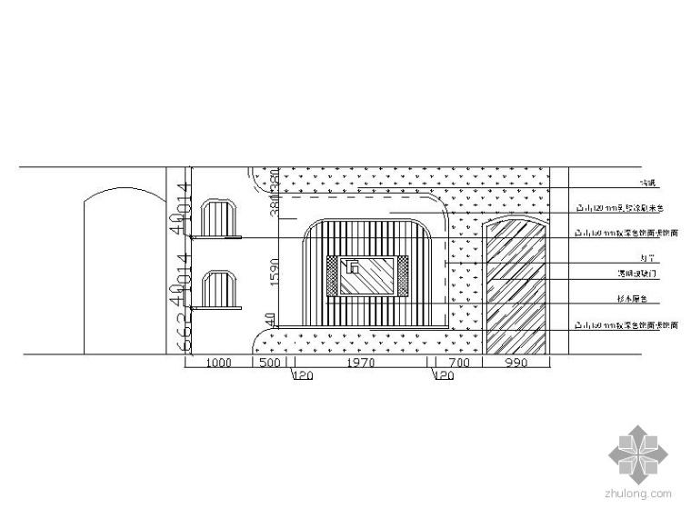 现代田园风三室两厅装修图(含效果)_2