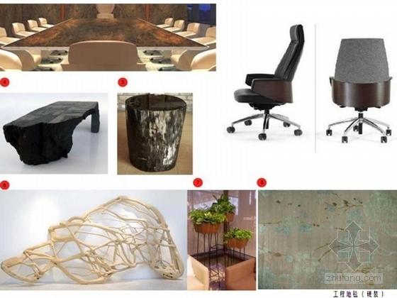 名师现代中式顶层复式会所软装方案家具示意图