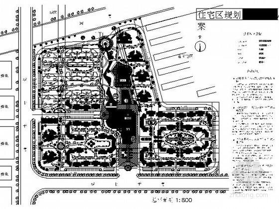 某10万平方米地块小区规划总平面