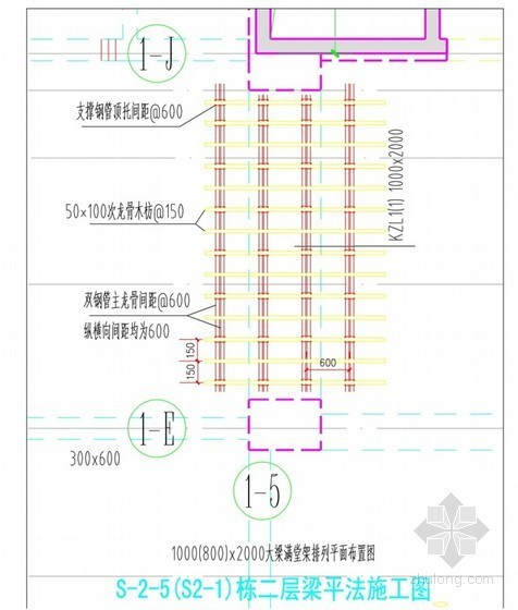 门式脚手架高支模支撑体系计算书(6米)