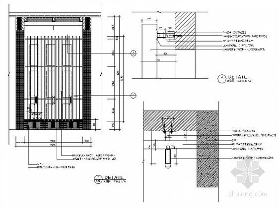 成套铝型材、塑铝板墙面装饰造型节点详图CAD图块下载
