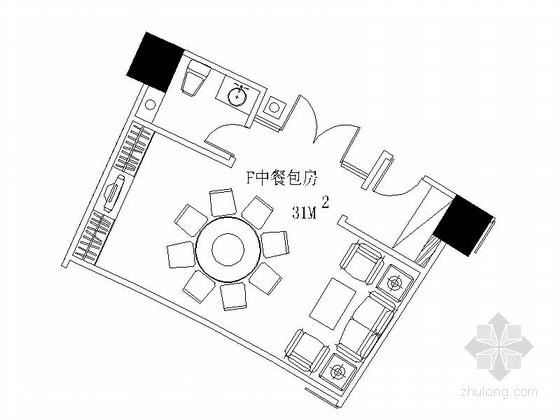 [成都]五星级酒店中餐包间装修施工图