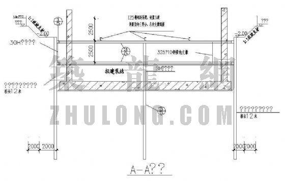 佛山市某水厂基坑支护工程系列施工图纸