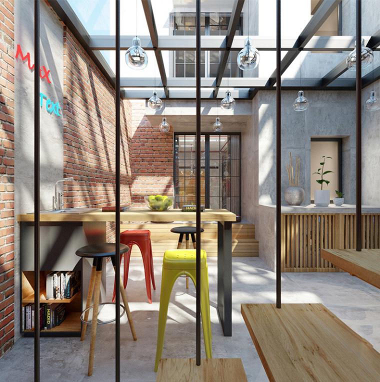 家庭装修:工业风与原墙搭配成就复古灵感
