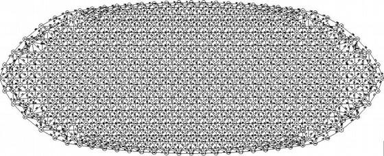 椭圆形区界收费站网架结构施工图